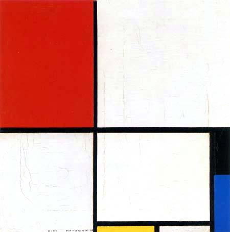 Piet (Pieter Cornelis) Mondrian (Mondriaan) - Composición con rojo, negro, amarillo y azul