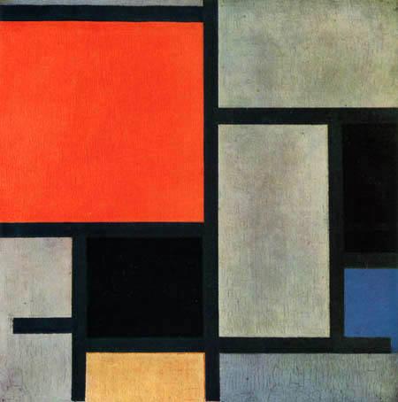 Piet Mondrian - Komposition mit Rot, Gelb und Blau
