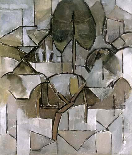 Piet (Pieter Cornelis) Mondrian (Mondriaan) - Paisaje con árboles
