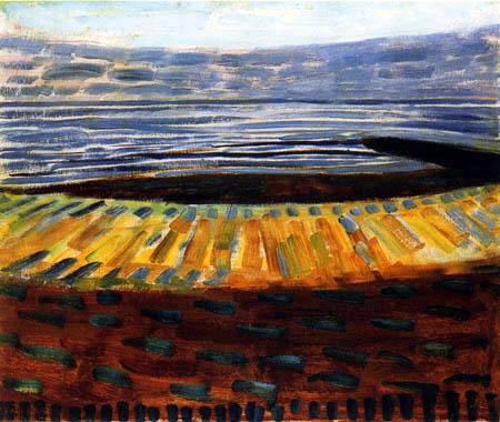 Piet Mondrian - Meer im Sonnenuntergang