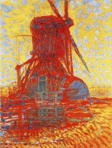 Piet (Pieter Cornelis) Mondrian (Mondriaan) - Moulin au soleil