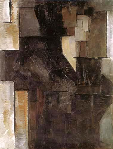 Piet (Pieter Cornelis) Mondrian (Mondriaan) - Portrait d'une dame