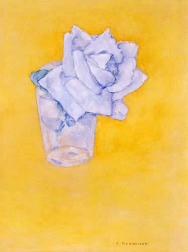 Piet Mondrian - Rose im Glas