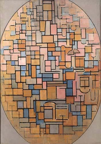 Piet (Pieter Cornelis) Mondrian (Mondriaan) - Tableau III, Composición Oval