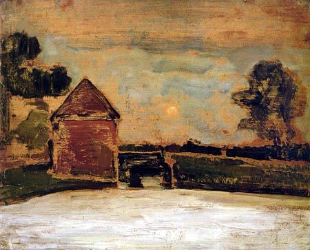 Piet Mondrian - Die alte Wassermühle in Oele bei Mondschein