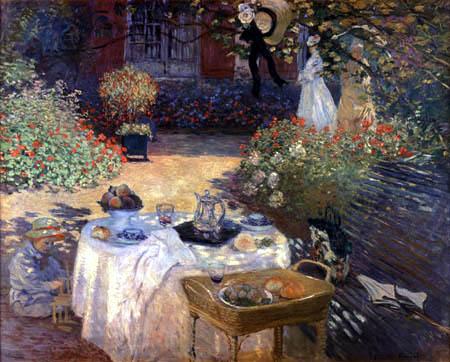 Claude Oscar Monet - Das Mittagsmahl