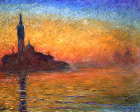 Claude Oscar Monet - Dusk in Venice