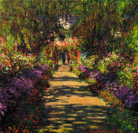 Claude Oscar Monet - Allee in Giverny