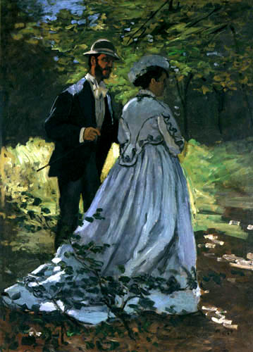 Claude Oscar Monet - The Walkers Bazille and Camille