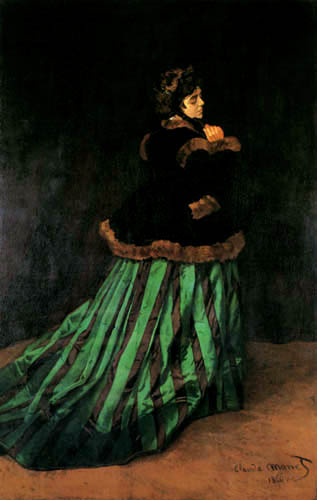 Claude Oscar Monet - Lady in the green dress