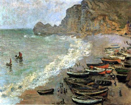Claude Oscar Monet - The Beach of Etretat
