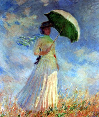 Claude Oscar Monet - Mujer con el parasol