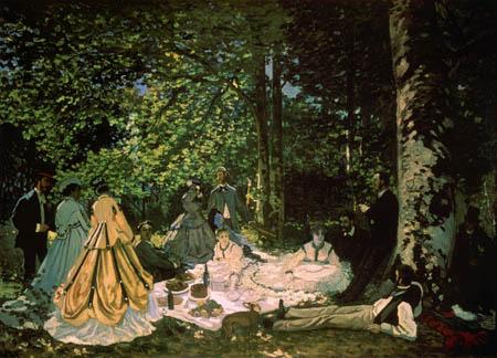 Claude Oscar Monet - Das Frühstück im Grünen