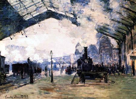 Claude Oscar Monet - Gare Saint-Lazare