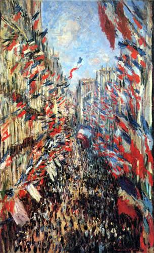 Claude Oscar Monet - Die Rue Montorgueil, Paris am 30.06.1878