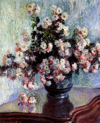 Claude Oscar Monet - Vase of Chrysanthemum