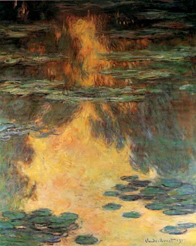Claude Oscar Monet - Seerosen, Wasserlandschaft