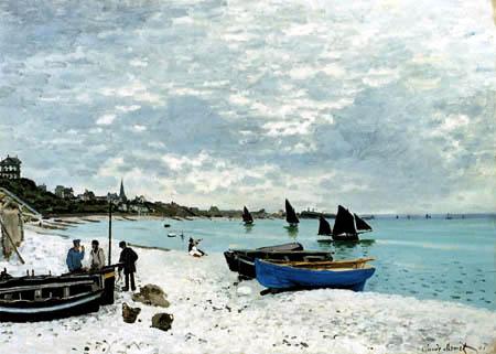 Claude Oscar Monet - Strand von Sainte-Adresse
