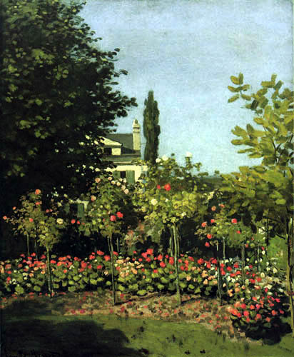 Claude Oscar Monet - Flowering garden