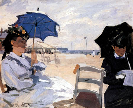 Claude Oscar Monet - On the beach of Trouville