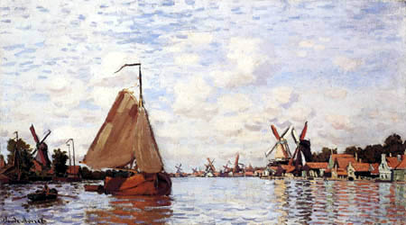 Claude Oscar Monet - Zaandam, Holland