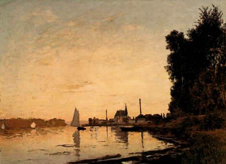 Claude Oscar Monet - Argenteuil, Sonnenuntergang