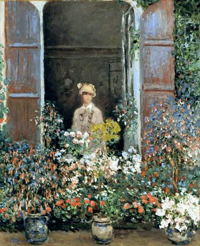 Claude Oscar Monet - Camille on the window, Argenteuil