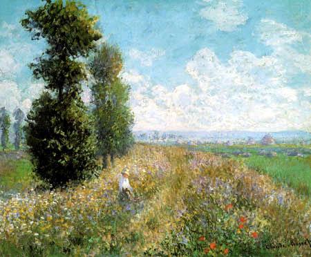 Claude Oscar Monet - Pré avec peupliers