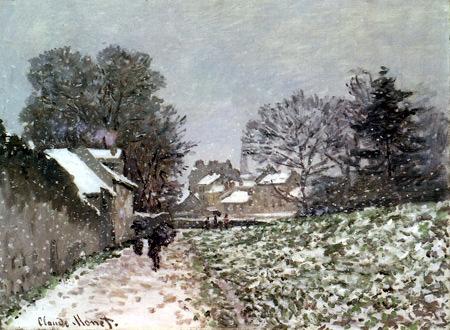 Claude Oscar Monet - Snow in Argenteuil