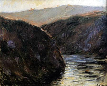 Claude Oscar Monet - River valley in the evening