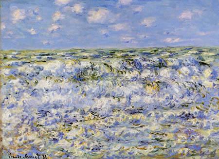 Claude Oscar Monet - Brechende Wellen