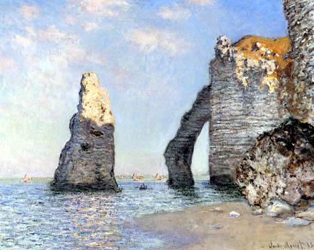 Claude Oscar Monet - The cliff of Dieppe Etretat