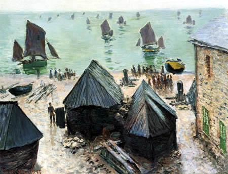 Claude Oscar Monet - Boats on the shore, Etretat