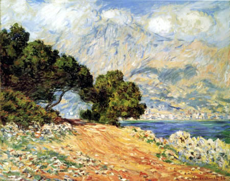 Claude Oscar Monet - Felsenküste von Monaco