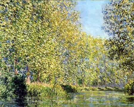 Claude Oscar Monet - River landscape Epte, Giverney