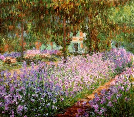 Claude Oscar Monet - Irisbeet in Monets Garten, Giverny