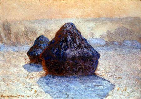 Claude Oscar Monet - Haystacks in the Snow