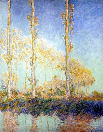 Claude Oscar Monet - Pappeln am Flußufer