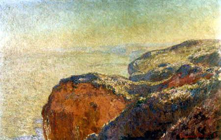 Claude Oscar Monet - The cliffs of Dieppe