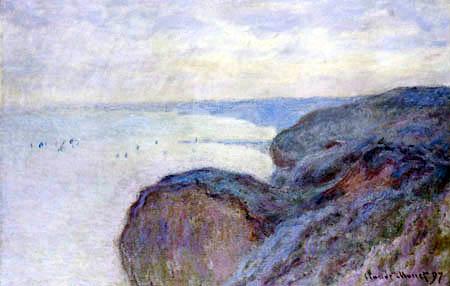 Claude Oscar Monet - Steiles Kliff