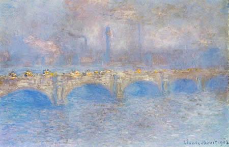 Claude Oscar Monet - Die Waterloo Bridge