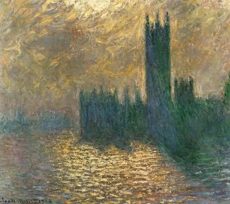 Claude Oscar Monet - Das Parlamentgebäude im Nebel