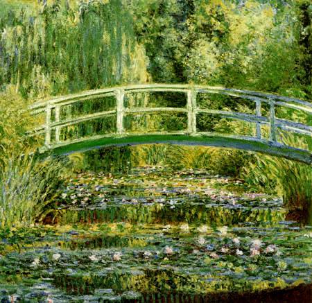 Claude Oscar Monet - Seerosen und die japanische Brücke