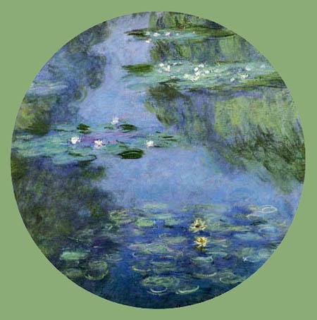 Claude Oscar Monet - Seerosen, rund