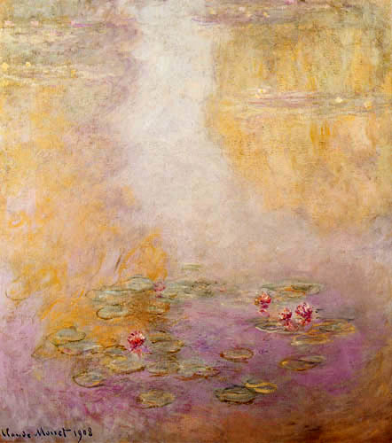 Claude Oscar Monet - Seerosen - Komposition in Rosa