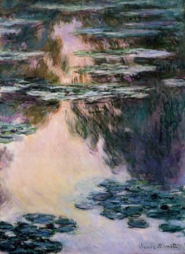 Claude Oscar Monet - Seerosen in Abendsonne