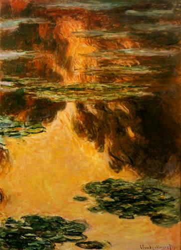 Claude Oscar Monet - Seerosen - Komposition in Gelb