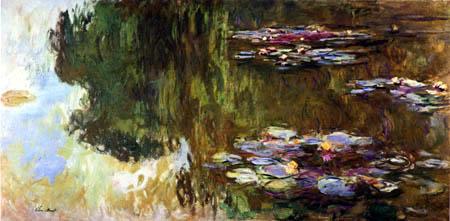 Claude Oscar Monet - Seerosen mit einer Baumspiegelung