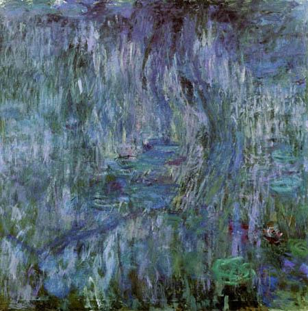 Claude Oscar Monet - Seerosen mit Weide