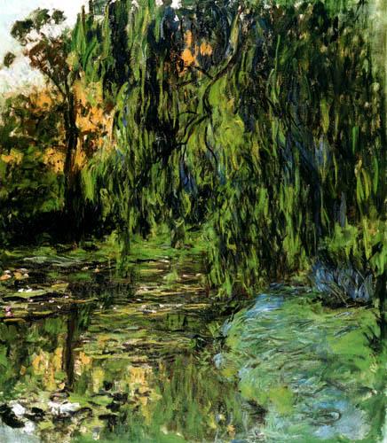 Claude Oscar Monet - Weidenbaum und Seerosen